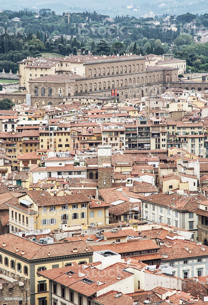 Picture of  Pitti palace in Florence, Tuscany, Italy stock photo