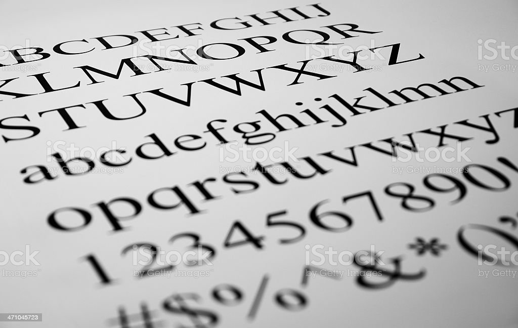 Picture of Printed Letters stock photo