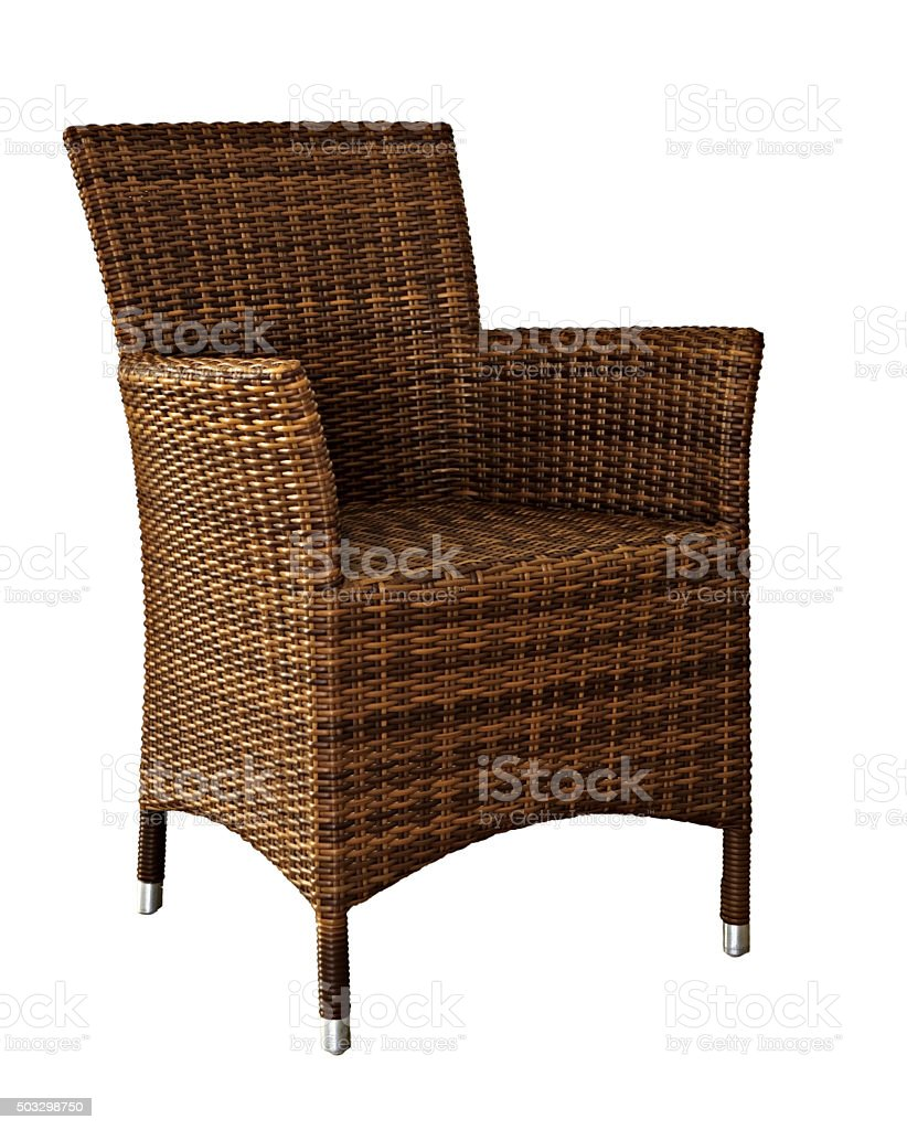 Picture of rattan Wicker Chair stock photo