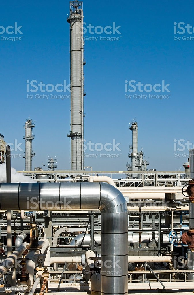Picture of refinery complex functioning royalty-free stock photo
