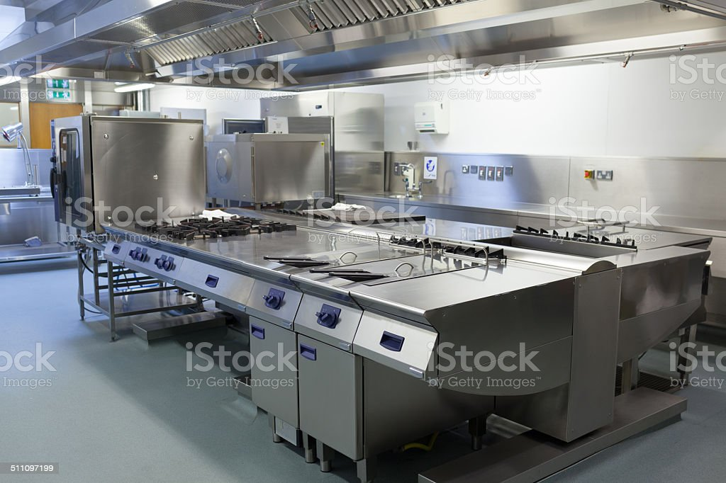 Picture of restaurant kitchen stock photo