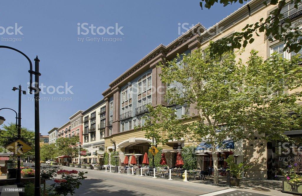 Picture of Santana Row, San Jose, CA royalty-free stock photo