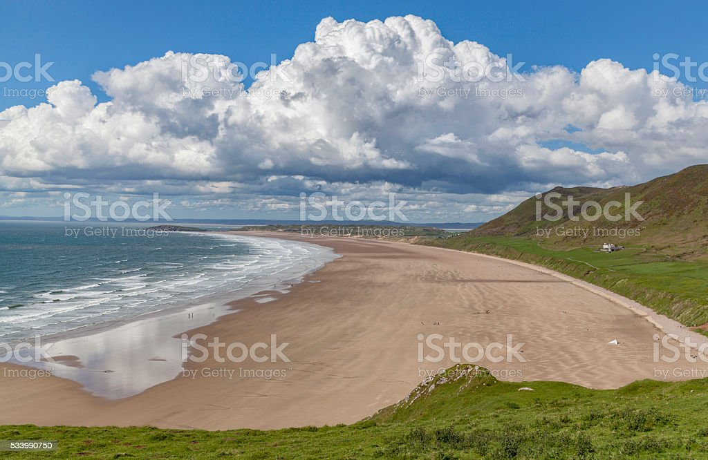 picture of seascape rhossili wales stock photo