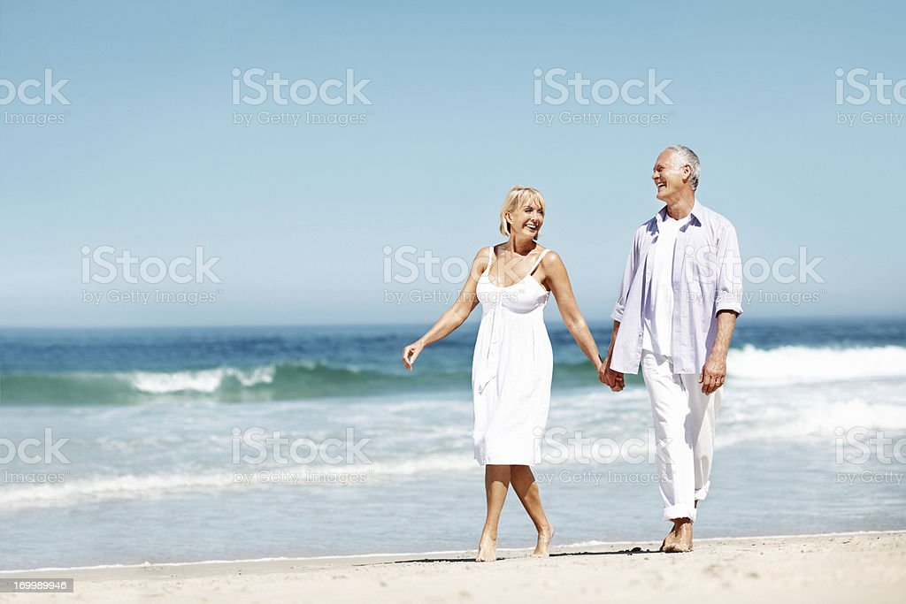 Picture of senior health and romance royalty-free stock photo