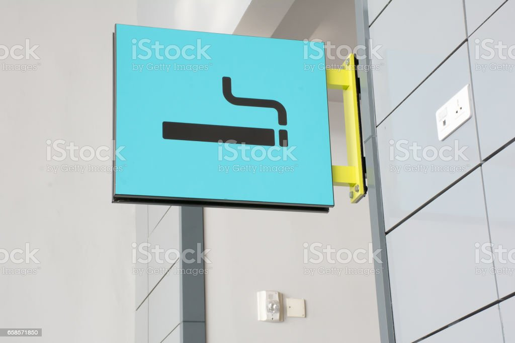 Picture of smoke area sign stock photo