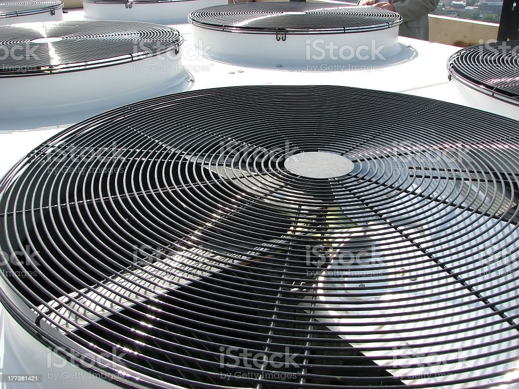 A picture of some ventilation fans stock photo