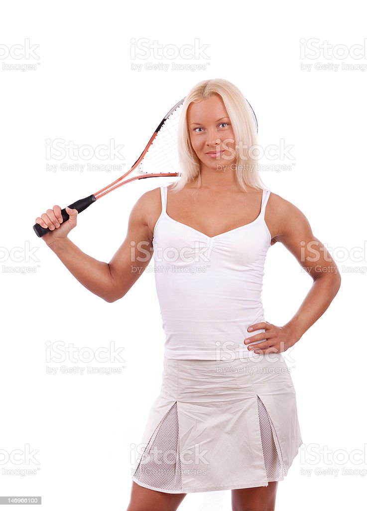 Picture of tennis player royalty-free stock photo