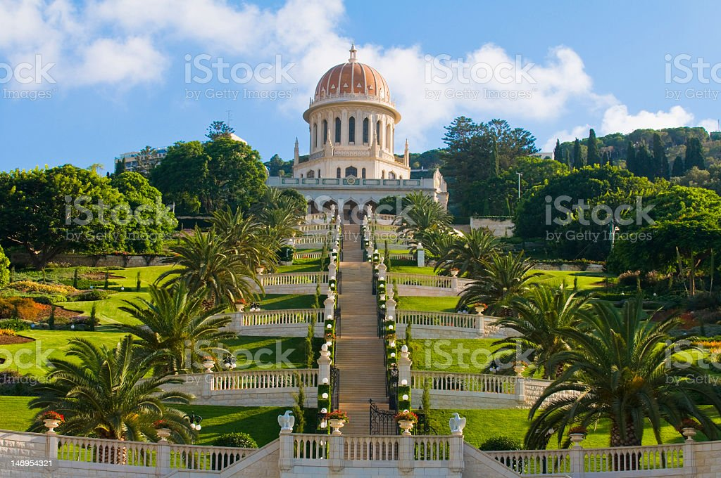 A picture of the Bahai gardens stock photo