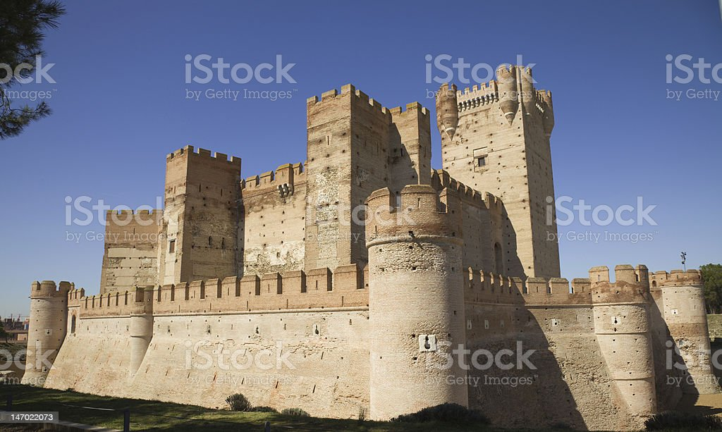 Picture of the Castle of La Mota in Spain stock photo