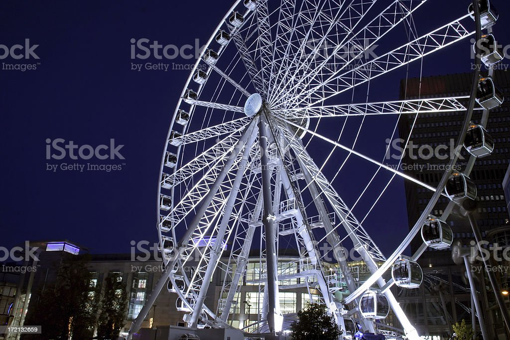 A picture of the city center Ferris wheel at night royalty-free stock photo