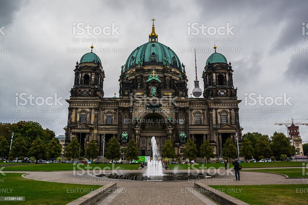 Picture of the evangelical Berlin cathedral stock photo