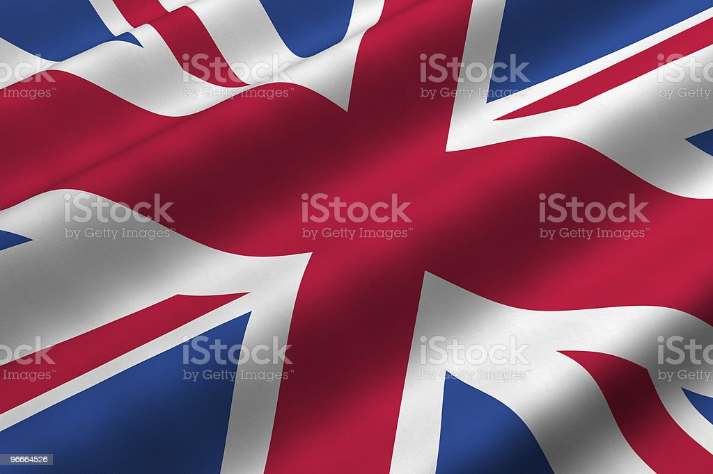 A picture of the flag of the United Kingdom royalty-free stock photo