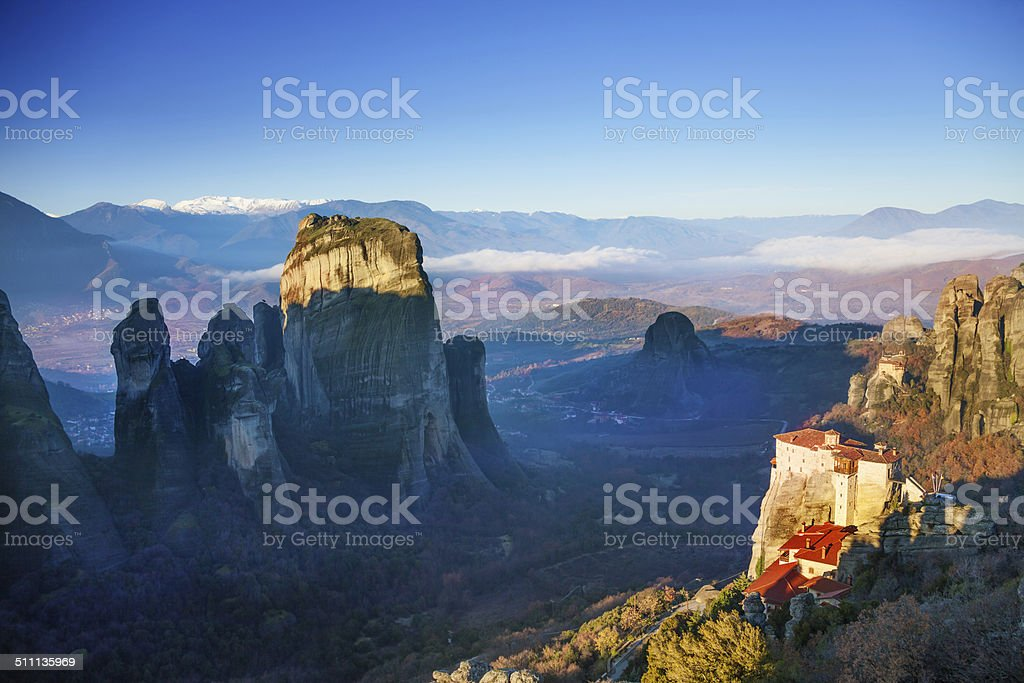 Picture of the Holy Rousanou Monastery stock photo