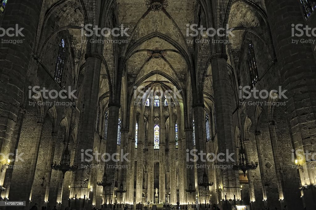 A picture of the inside of a cathedral stock photo