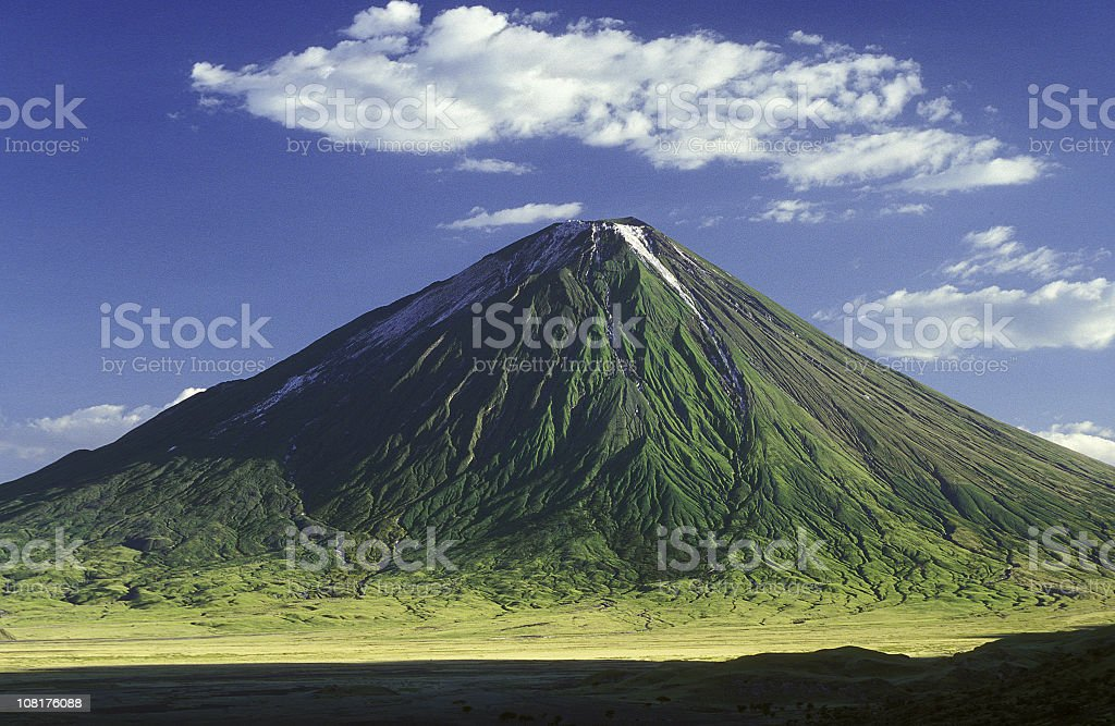 Picture of the Masai mountain Ol Doinyo Lengai stock photo