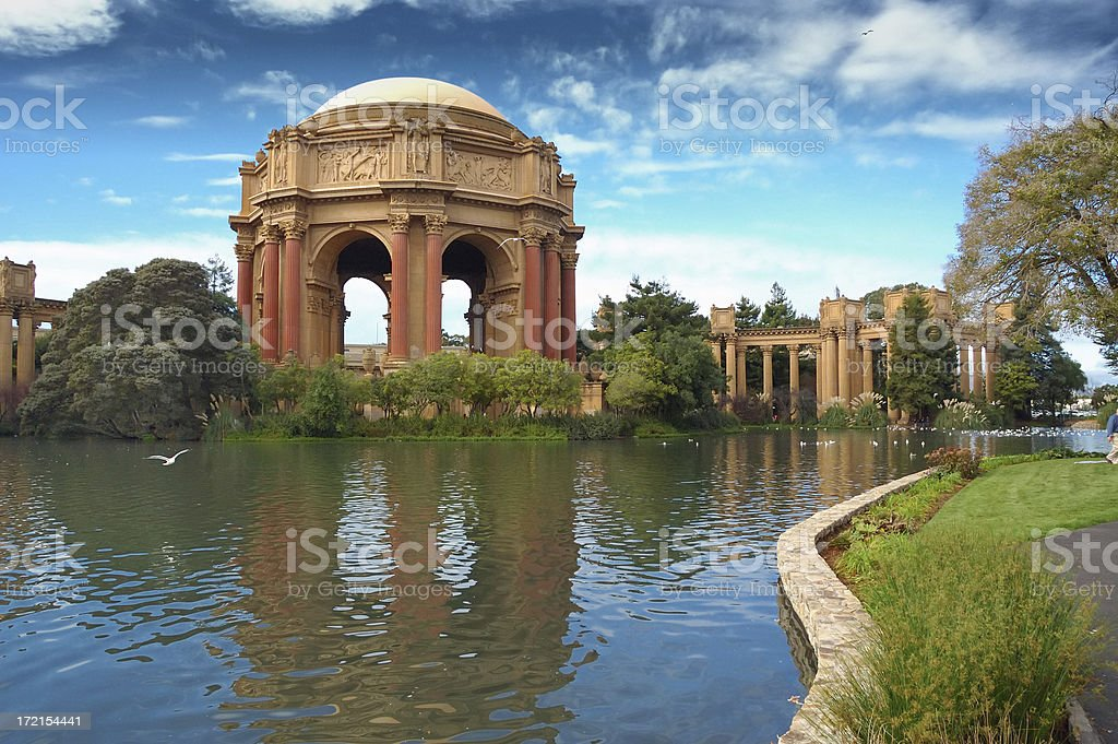 A picture of the Palace of Fine Arts royalty-free stock photo