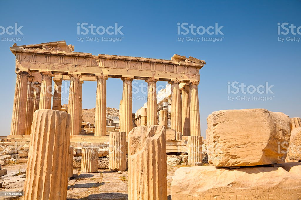Picture of the Parthenon in Athens stock photo