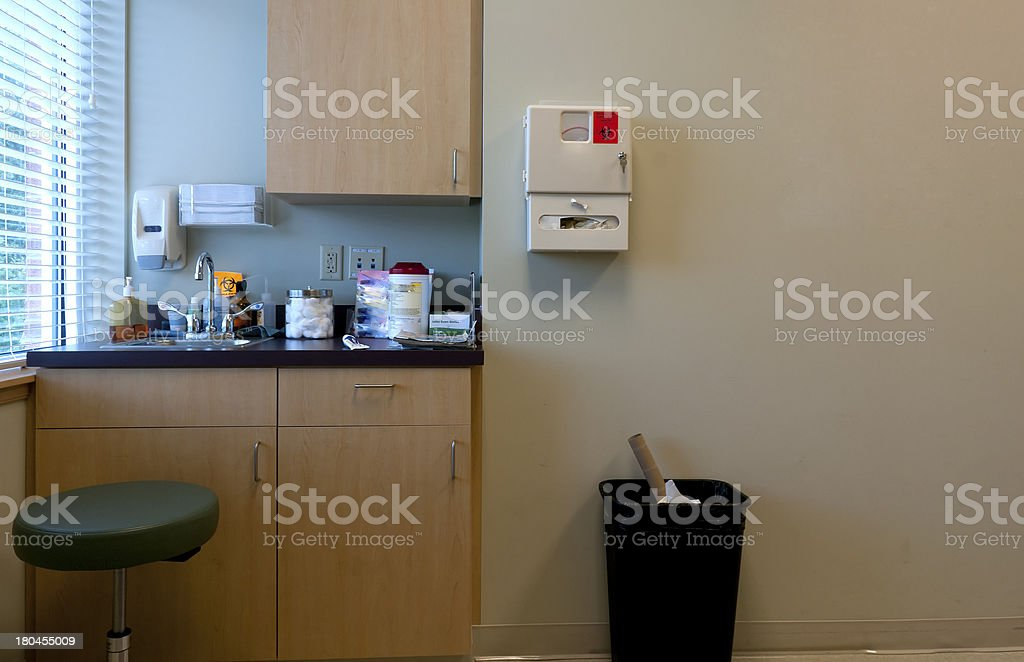 Picture of the supply cupboard in a doctors office stock photo