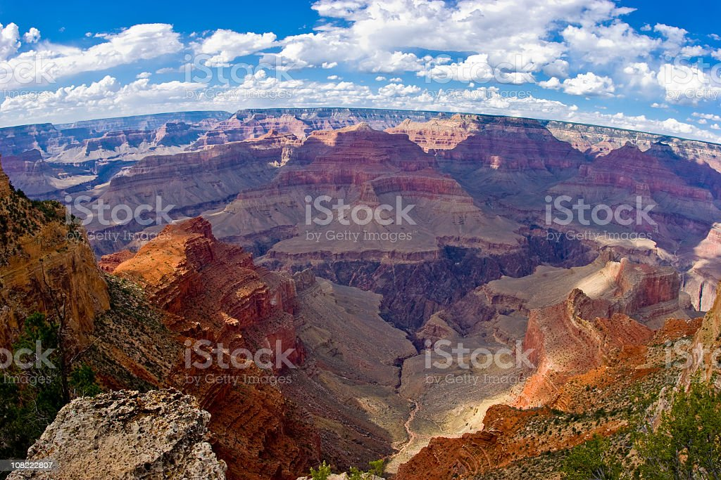 A picture of the top of the Grand Canyon royalty-free stock photo
