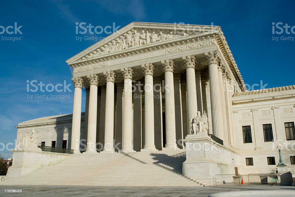 A picture of the United States Supreme Court royalty-free stock photo