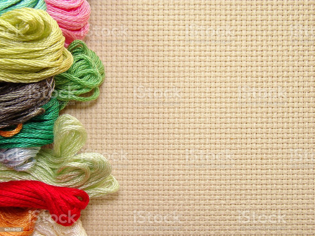 A picture of yarn used for stitching royalty-free stock photo