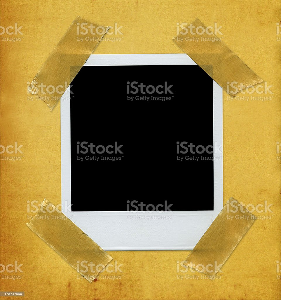 Picture on aged paper royalty-free stock photo