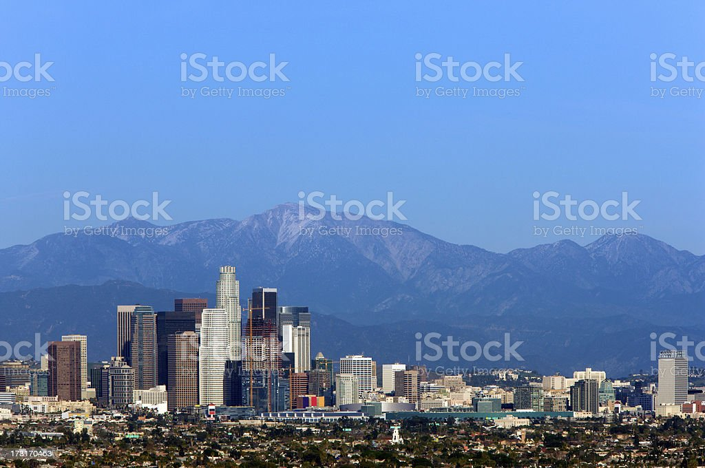 Picture perfect day in LA royalty-free stock photo