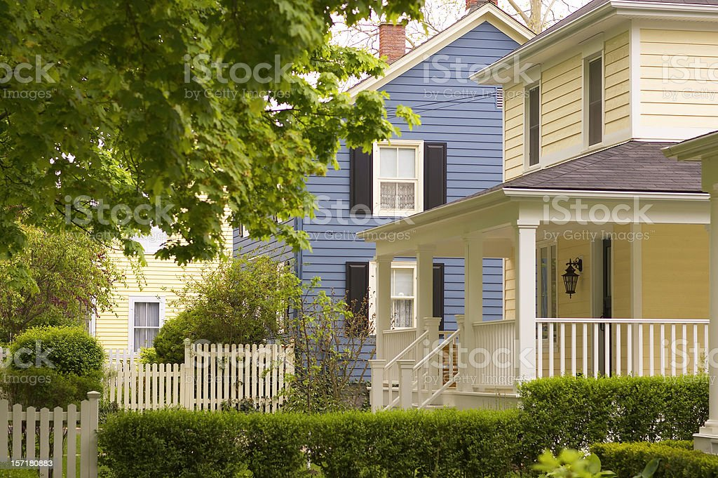 Picture perfect houses royalty-free stock photo