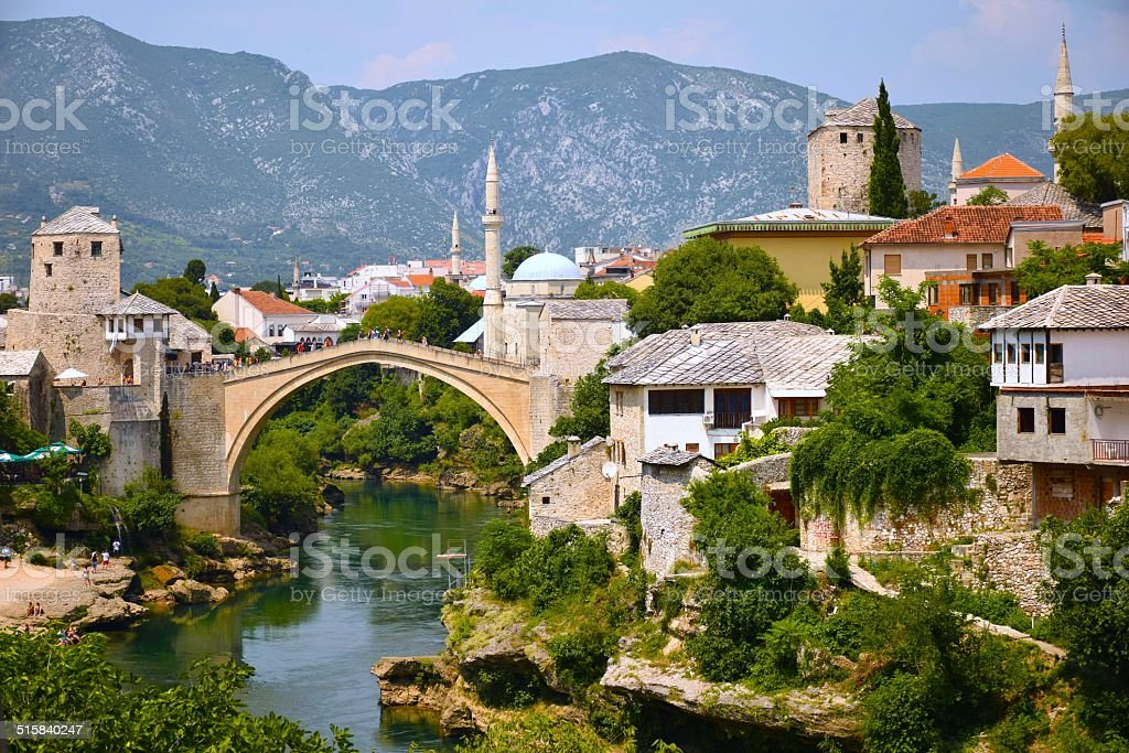 Picture perfect Mostar stock photo