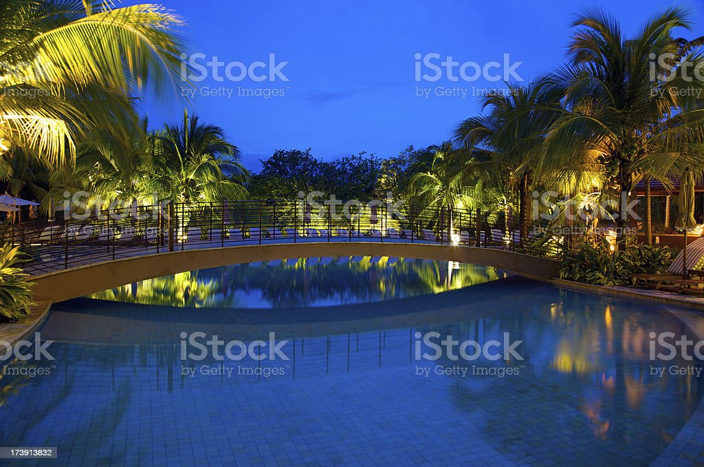 Picture perfect tropical resort royalty-free stock photo