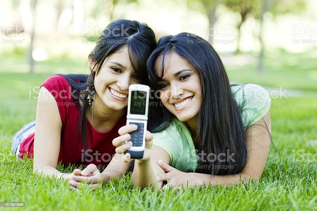 Picture Phone Fun royalty-free stock photo