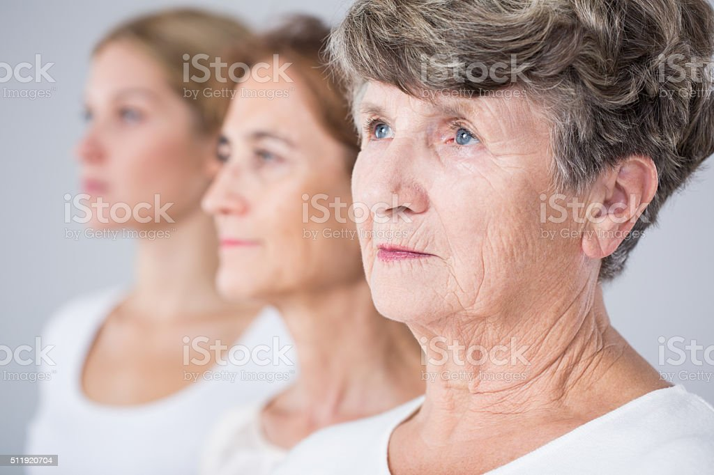 Picture presenting aging process stock photo