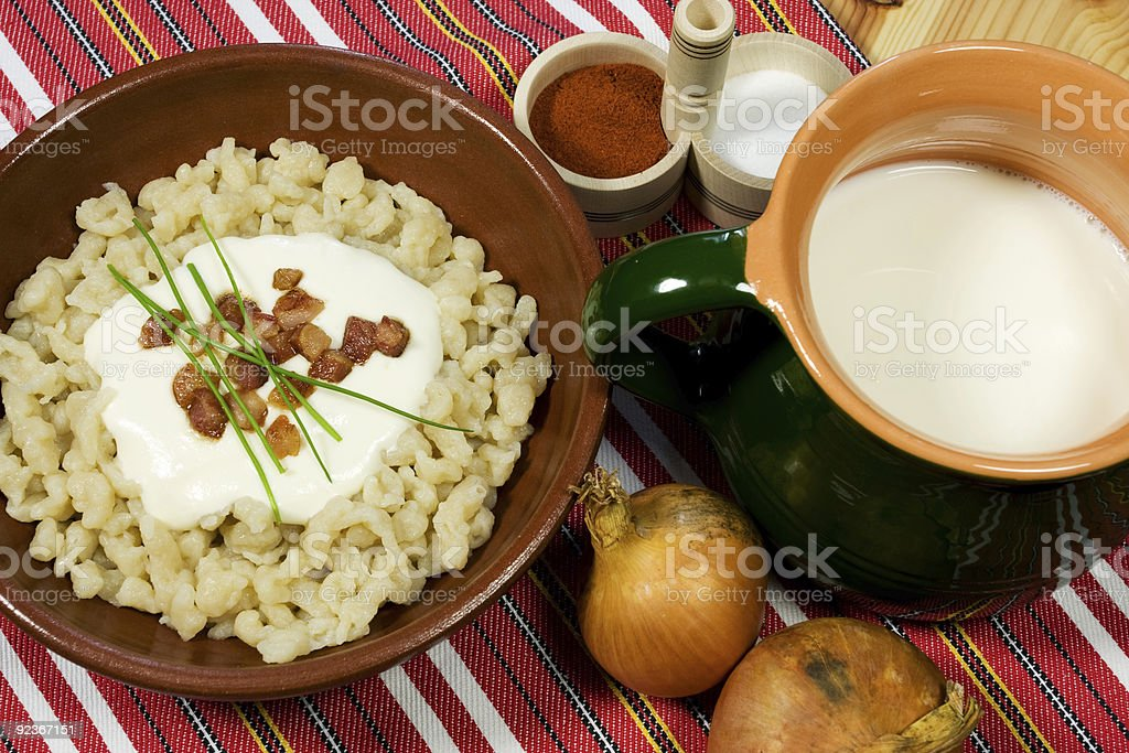 A picture showing a traditional Slovak meal stock photo