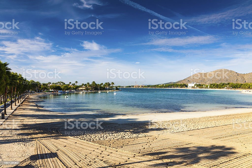 Picture showing the lake in Port of Alcudia stock photo