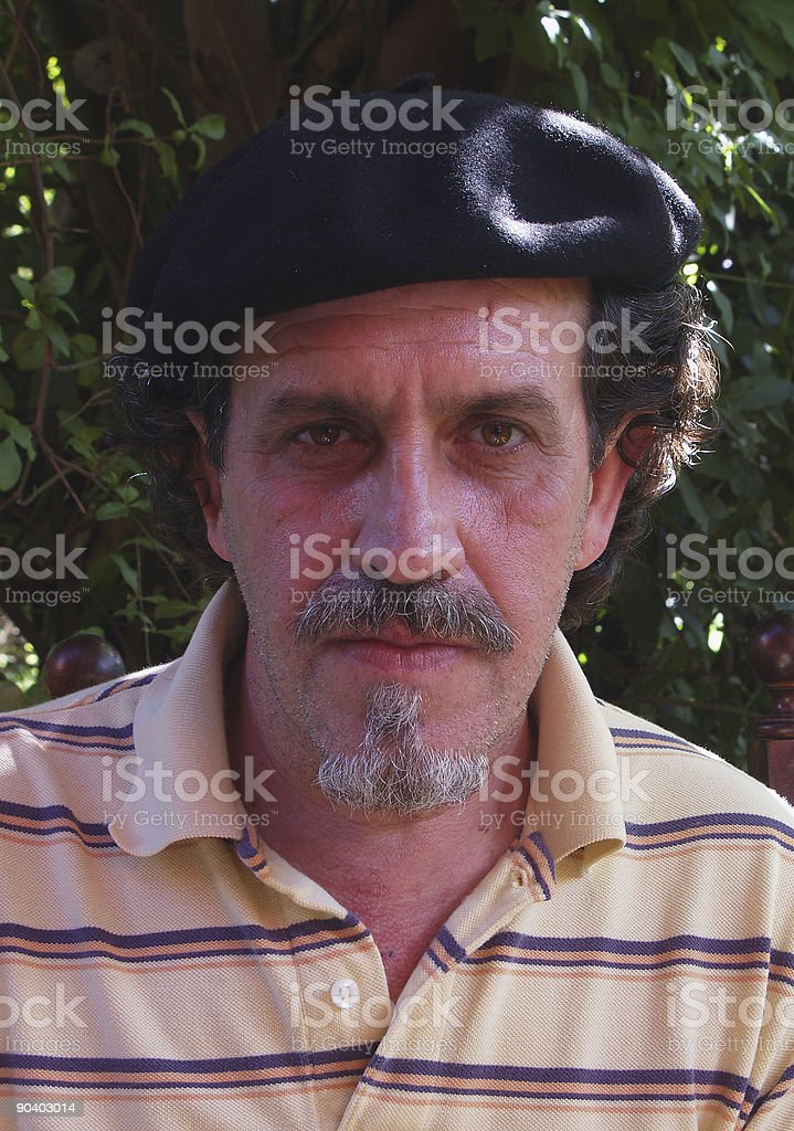 picture with beret royalty-free stock photo