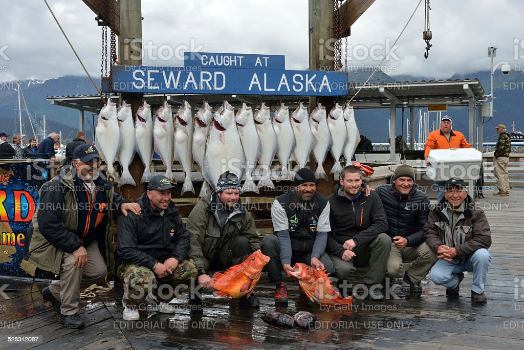 Picture with Fish at Seward Market Place stock photo