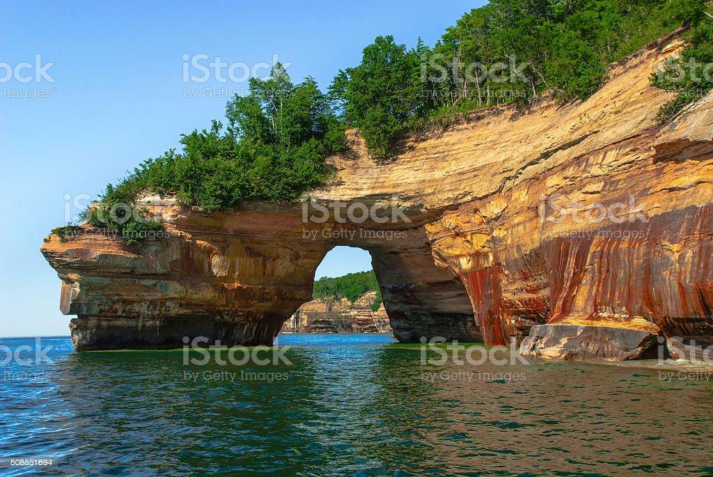 Pictured Rocks National Lakeshore. Michigan, USA. stock photo