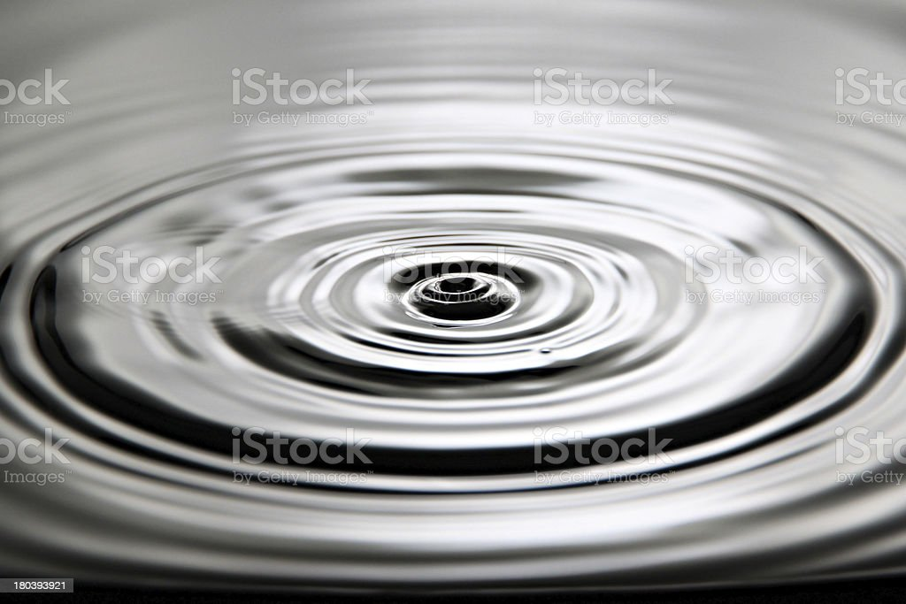 Pictures is water drops a beautiful shape. royalty-free stock photo