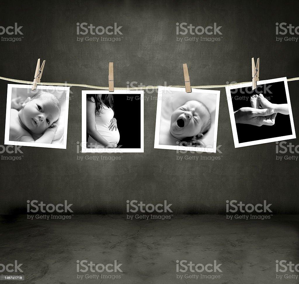 Fotos de un recién nacido y madre foto de stock libre de derechos