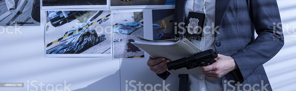 Pictures of crime scene stock photo