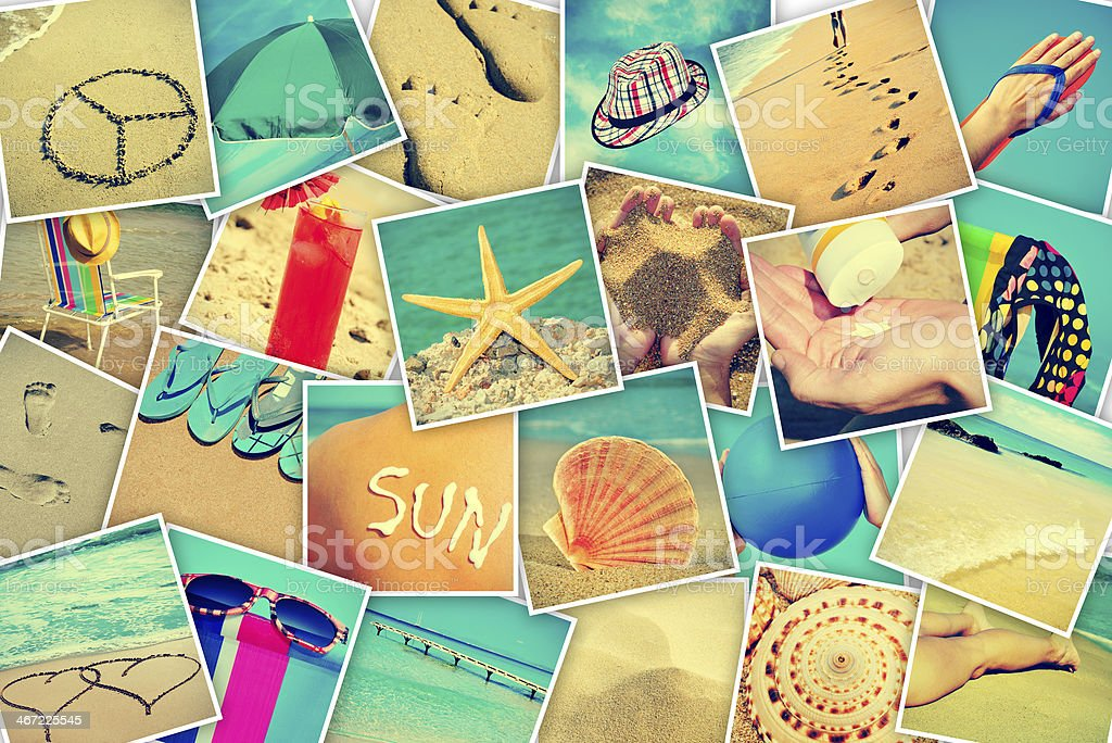 pictures of different summer sceneries royalty-free stock photo