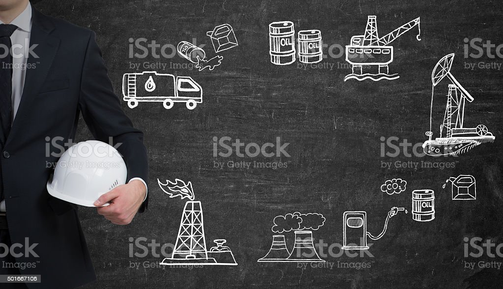 pictures of oil industry, pollution stock photo