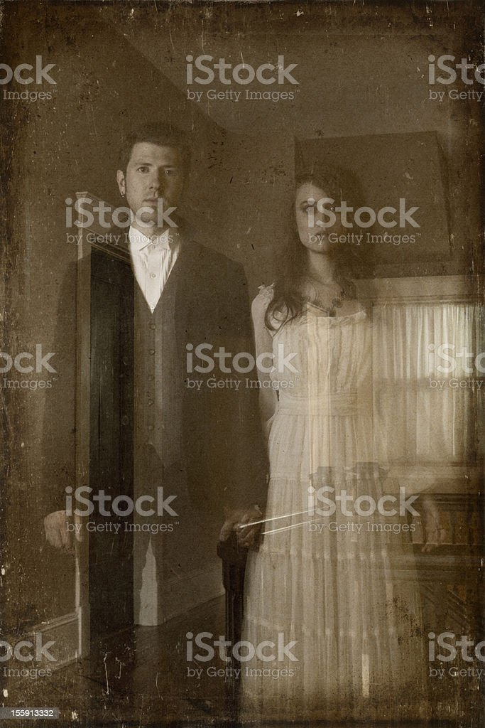 Pictures of Real Ghostly Couple royalty-free stock photo