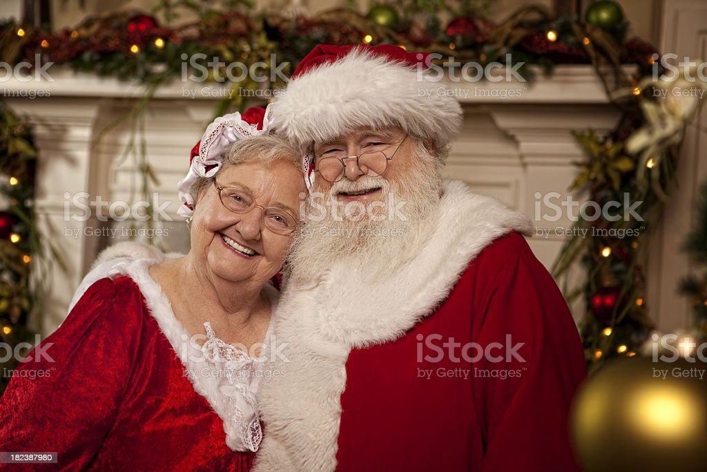 Pictures of Real Santa and Mrs. Claus stock photo