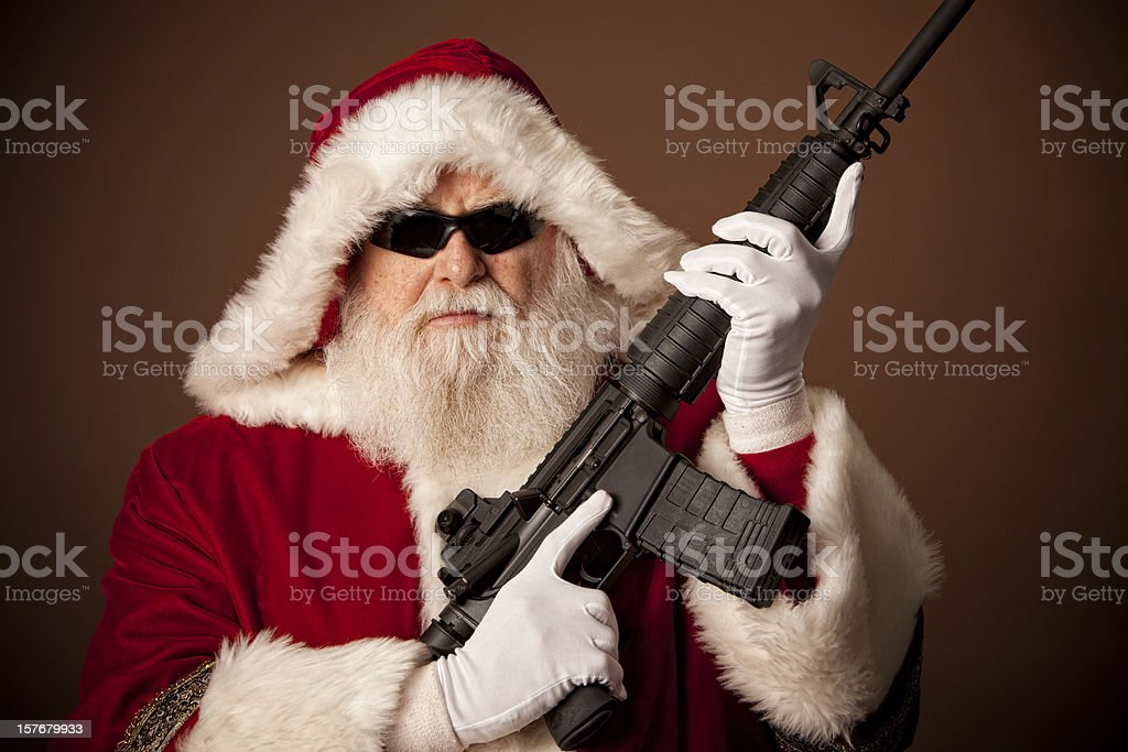 Pictures of Real Santa Claus Got A Gun stock photo