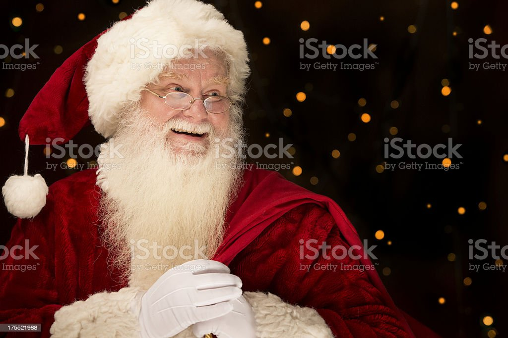 Pictures of Real Santa Claus Has A Gift Bag royalty-free stock photo