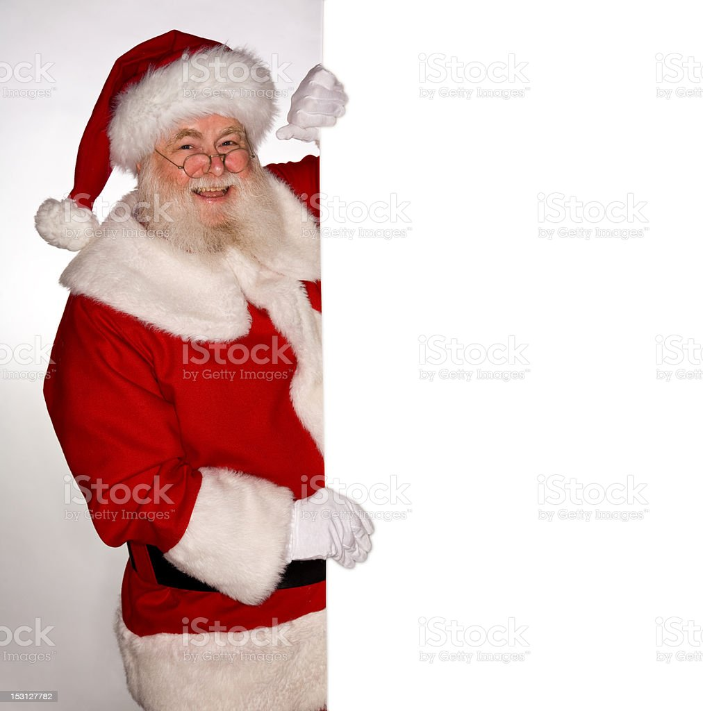 Pictures of Real Santa Claus Has A Sign royalty-free stock photo