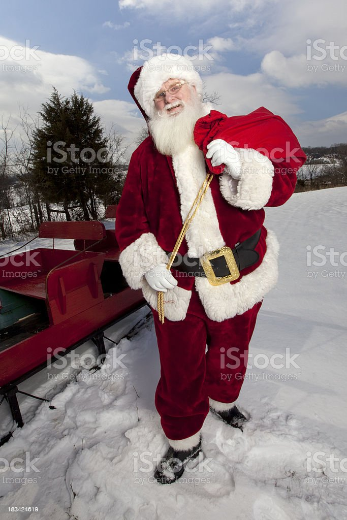 Pictures of Real Santa Claus in the Wilderness stock photo