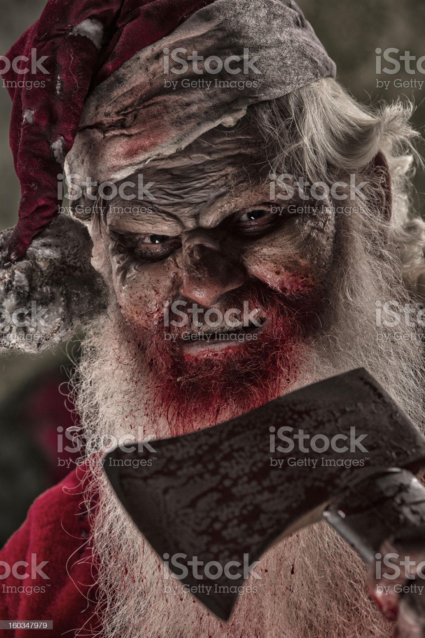 Pictures of Real Santa Zombie royalty-free stock photo