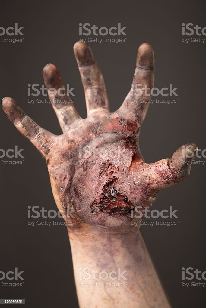 Pictures of Real Zombie Hand stock photo